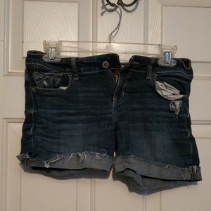 Blue jean shorts from hollister